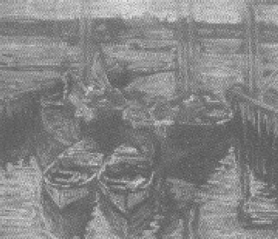 boats at the pier by charles salis kaelin