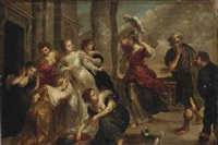 achilles and the daughters of lycomedes by victor wolfvoet the younger