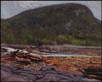 sketch for logs in the gatineau by james edward hervey macdonald
