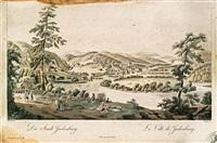 die stadt judenburg (engraved by johann ziegler) by ferdinand runk