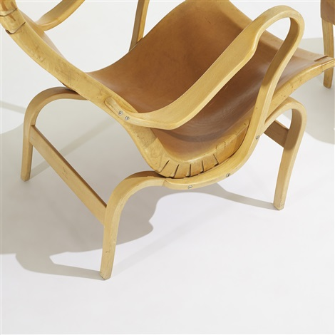 pernilla 2 chair with ottoman by bruno mathsson