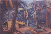 paysage de tahiti by paul-emile colin