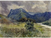 landscape with mountains and river by william brymner
