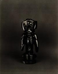 african mask (statuette) by walker evans