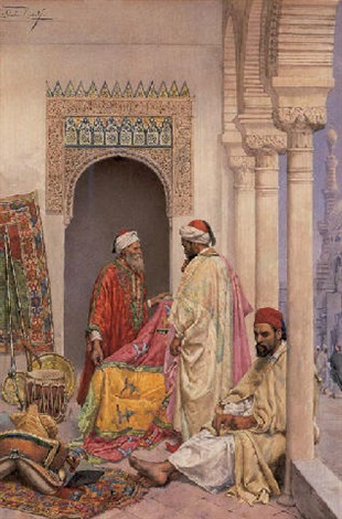Captivating The Rug Merchant By Giulio Rosati