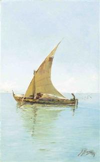 le départ des pêcheurs by felix alarcon