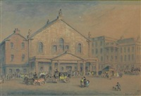 the old theatre royal, shakespeare square, edinburgh by john le conte