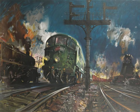 british railways locomotive condor by terence cuneo