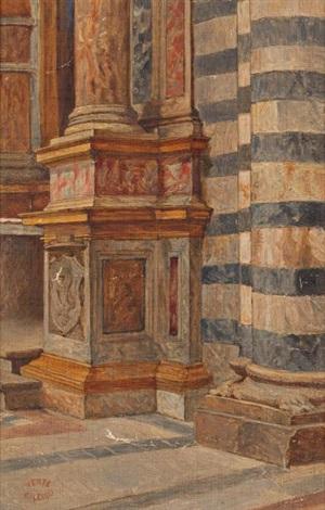 intérieur déglise study by théodore valerio