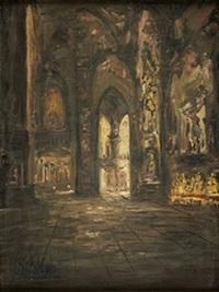 interior de la catedral de burgos by fermin santos