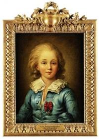 portrait en buste de louis antoine de bourbon, duc d'angoulême, dernier dauphin de france, portant sur la poitrine l'ordre de saint louis by anne rosalie filleul