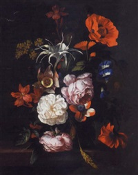 bouquet sur un entablement by philip van couwenbergh