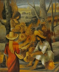 les soleils de colonges-la-rouge by jean abadie