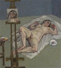 reclining nude by jun chen