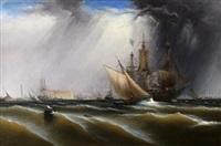 view of philadelphia harbor by james hamilton