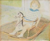 portrait de jacqueline manteau à trois ans by léon spilliaert