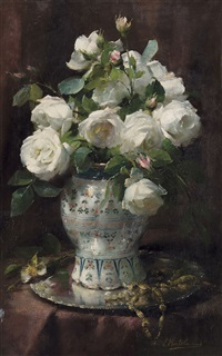 roses blanches by frans mortelmans