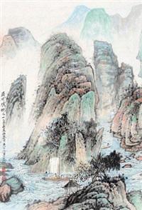 蜀川胜概 立轴 铅笔纸本 by wu lifu