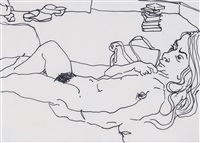 figure i (sue reclining) by barry flanagan