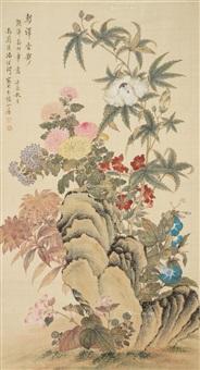 花 卉 轴 纸本 by tang shishu