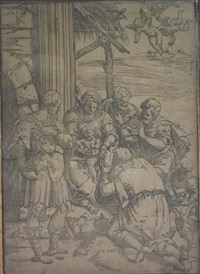 the adoration of the magi (after luini) by andrea andreani