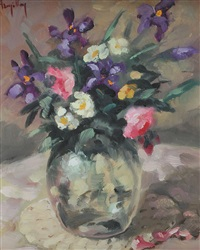 vase of flowers by ken hamilton