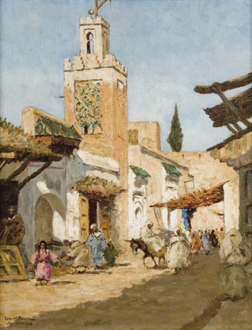 rue animée à marrakech by carlos abascal