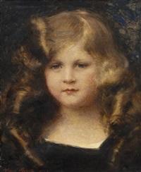 portrait de jeune fille by aime nicolas morot