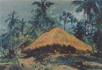 humble dwelling, malabar coast by william spencer bagdatopolous