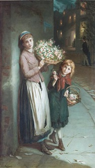 flower girls- a summers night by augustus edwin mulready