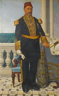 portrait of admiral ahmed pasha mazhar hassanein by ulisse anagnosti