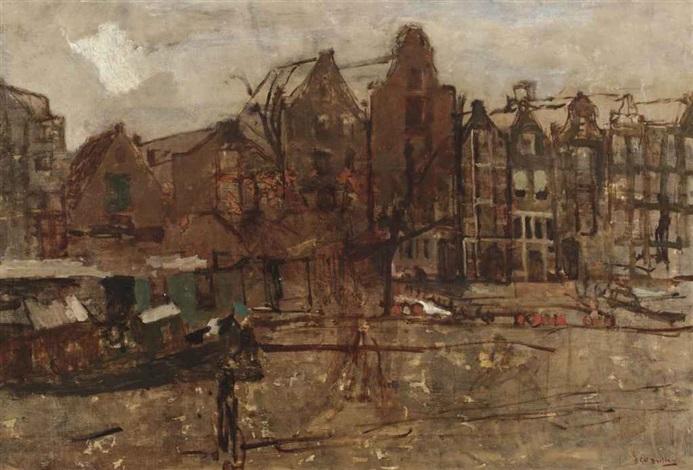 the nieuwe teertuinen amsterdam by george hendrik breitner