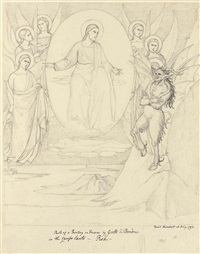 entombment (after donatello) (+ 11 others; 12 works) by david pierre giottino humbert de superville