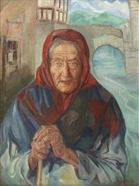 femme au fichu by diego rivera