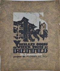 vieilles cours et vieux toits de rennes (album w/12 works) by théophile lemonnier