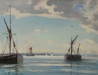 shipping in tranquil waters by hugh boycott-brown