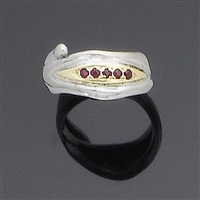 a gem set ring (ring size j) by charles de temple