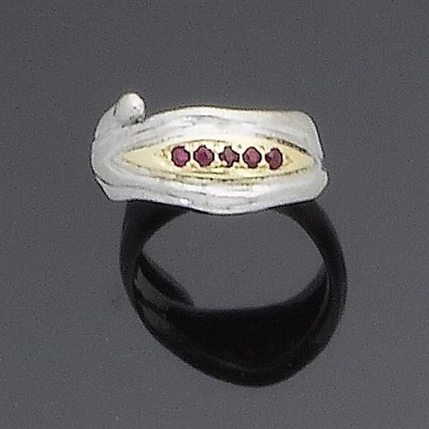 a gem set ring ring size j by charles de temple