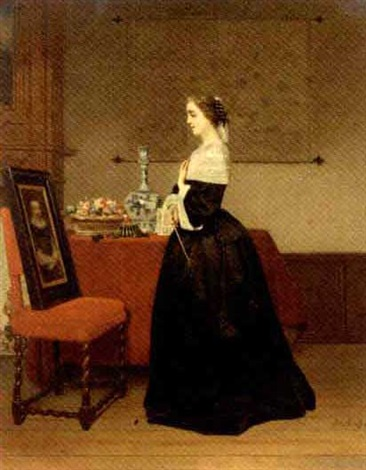 le portrait the absent lover by johann cornelius mertz