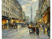 rue de la paix, place vendome by antoine blanchard