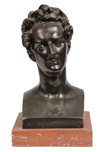 bust of alphonse de lamartine by pierre jean david d' angers