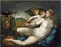 vénus et cupidon by french school-fontainebleau (16)