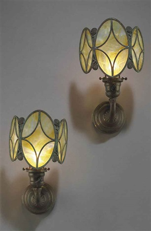sconces pair by tiffany studios