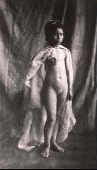 petite fille nue (de face) by eugène (jean louis marie) durieu