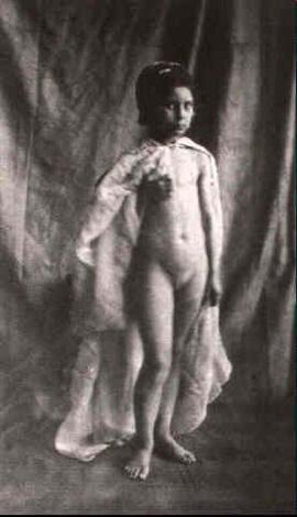petite fille nue de face by eugène jean louis marie durieu