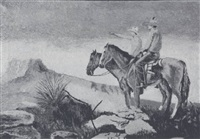 untitled (two horses with riders) by hope tackitt