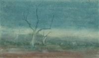 evening landscape by james walter robert linton