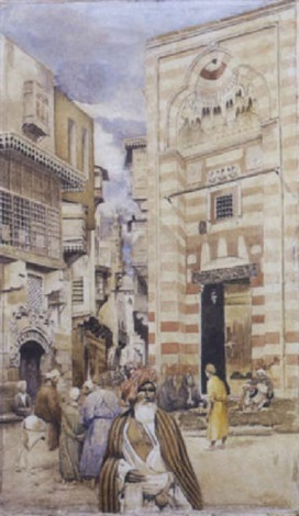 rue animée au caire by arngibbon