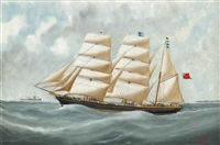 the clipper harriet mcgregor in coastal waters by victor charles edouard adam