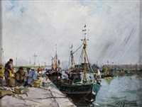 le retour de pêche by louis edouard garrido